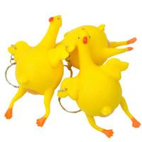 الجدة محاكاة ساخرة مضحكة الادوات اللعب تنفيس الدجاج البيض الكامل وضع الدجاج مزدحمة الإجهاد الكرة سلسلة المفاتيح