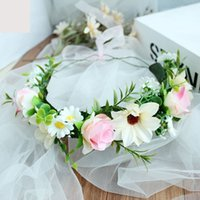 Headbands Pageant Crowns Plastic Tiaras Hair Wreath Rose Flo...