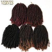 Crochet Braids Hair Extensions 8 inch, 30strands pack Synthet...