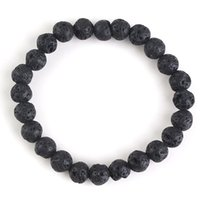 xinshangmie Fashion Men Black Lava Stones Healing Balance Be...