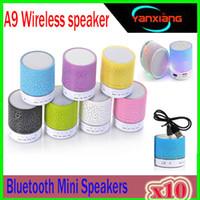 10 adet Bluetooth Hoparlörler A9 Kablosuz hoparlör eller Taşınabilir Mini hoparlör ücretsiz Mic ile YF-A9-03 TF USB FM Desteği sd kart PC