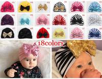INS 어린이 스팽글 나비 모자 인디언 이슬람 아기 모자 모자 아기 모자 면화 모자 터번 트위스트 모자