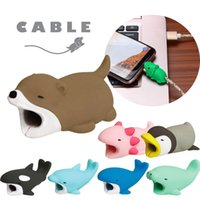 Cute animal colorful Line Bite for Iphone Cable cord Animal ...