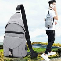 Small USB Charge One Shoulder Bag Men Messenger Bags Male Wa...