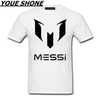 Lionel Messi T- Shirts Barcelona Men' s Short sleeve Shir...