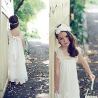 2017 아름다운 아이 Boho 웨딩 캡 슬리브 상금 드레스에 대한 귀여운 소녀의 드레스 첫 번째 영성체 복장 레이스 꽃 어린 소녀 드레스