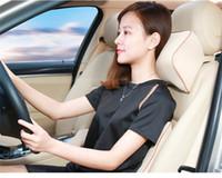 Asiento de coche automático Soporta amortiguador trasero y el reposacabezas cuello almohada de espuma de memoria posterior lumbar de la columna vertebral Dolor Conductor Almohada