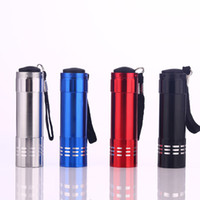 Aluminum Alloy Portable UV Flashlight Violet Light 9 LED Tor...