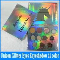 2018 завод прямые Unicon блеск глаз палитра теней для век 11 цветов макияж тени для век палитра блеск DHL доставка + подарок