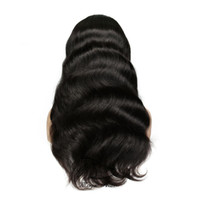 Venta al por mayor 20-26 pulgadas Pelucas llenas del cordón del pelo humano para las mujeres Color natural Onda brasileña del cordón del cuerpo pelucas frontales con el pelo del bebé Rayita natural