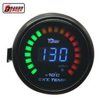 Dragon Gauge 52mm Digital 20 LCD سيارة العادم قياس درجة حرارة الغاز وتعديل قياس فولت EXT temp متر