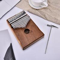 Çanta ile 17 Anahtar Kalimba Afrika Maun Başparmak Piyano Parmak