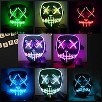 Halloween Maske LED Leuchten Luminous Horror Grimasse Blutige Party Club Bar Masken Lustige Masken Festival Cosplay Kostüm Liefert Glow In Dark