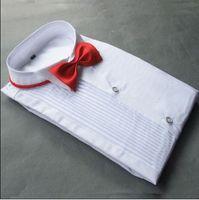 Högkvalitativ Bomull Groom Långärmade T-shirts Bästa Man Skjorta Långärmad Vit Skjorta Brudgum Tillbehör 01