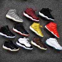 Симпатичные дети 11 Space Jam Бред Concord Gym Red баскетбол обувь Дети Мальчик Девушки 11s Полночь Navy кроссовки Малыши подарок на день рождения