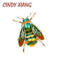CINDY XIANG Unisex 다채로운 곤충 브로치 귀여운 꿀벌 브 로치 핀 골드 컬러 에나멜 쥬얼리 패션 드레스 액세서리 높은 Qulity