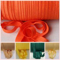 """100yards / rouleau 5/8"""" Spandex Ruban multirôle Fold bande ruban élastique pour la couture Accessoires cheveux Ties taille de vêtement accessoires"""