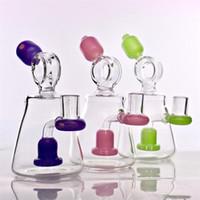 Recycleur de haute qualité Bonnet Bong Banghalhs Trois couleurs Huile plate-forme 7''Tall Bubbler avec une forme de sprinkler