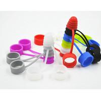 E Cig Silicone Drip Tip Cover Anti Polvere Tappo sanitario Antiscivolo Anello Band Per Serbatoio Atomizzatore Vape Serbatoio Cap Vaporizzatore Mod