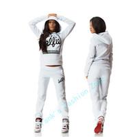 Kadın Eşofman Giyim Kapüşonlular Seti Harf Baskı Sportwear Suit Kadınlar 2 Piece Set Kostümler sweatshirt + Pantolon sudaderas Drop Shipping