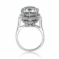 choucong 2016 Mode Femmes Couronne Bague Diamant 925 Sterling argent Bague De Fiançailles De Mariage pour les femmes