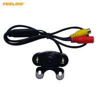 Araç Ters Sistemi Park Kamera # 4788 İçin FEELDO 12V Oto Araç Geri Görüş Kamerası ile LED Işıklar