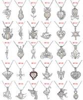 63 Designs perlen Käfig anhänger halsketten Mit Oyster Wunsch natürliche Perle Luxus Hohl Medaillon Charme ketten Für frauen modeschmuck