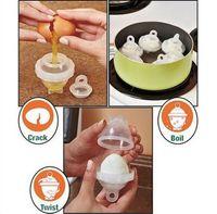 Delidge 7 pezzi / set 1 separatore di uova + 6 uova uova di cottura a vapore uova senza conchiglie con separatore fornello per uova caldaie bracconieri
