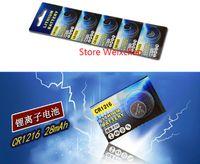 Li Battery Lot Lithium Free 200 stücke 3 Ion-Taste Zellen-Volt Cr 1216 CR1216 Versand Li-Ion-Münzbatterien 3V 1 HKMLO