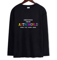 Travis Scotts ASTROWORLD Letter Print Long Sleeved T- shirt M...
