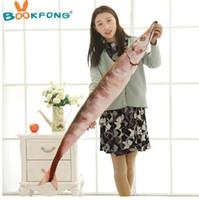 BOOKFONG Pc 50 cm Kreative Nette Simulation Saury Geformt Plüsch Fisch Kissen Weichem Plüsch Spielzeug Kinder Schöne Saury Kawaii Kinder Geschenke