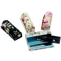 빈 립스틱 케이스 미러 립 밤 컨테이너 튜브 천 립 글로스를위한 새로운 휴대용 꽃 미니 선물 상자 2 개를 포장 / 많은