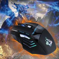 새로운 A908 마우스 5500 DPI 다채로운 빛 방출 전문 광학 기계식 유선 게임 케이블 마우스 마우스 무료 배송