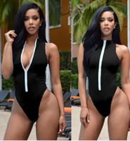 여성 여름 의류 비키니 비치 프론트 지퍼 업 디자인 원피스 비키니 수영 수영복