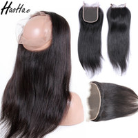 13x4 Lace frontal 4x4 closure 360 lace frontal straight high...