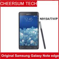 Восстановленное Оригинал Samsung Galaxy Note 4 Край N915A N915T N915P N915V N915F разблокирована сотовый телефон 3GB / 32GB 5,6 дюймов 2560x1440 16MP