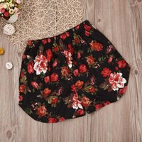 Womens Shorts Multicolor Elastic Waist Lace Up Floral Loose ...