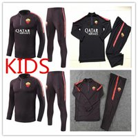 18 19 Roma KIDS Soccer Jersey Training Suitsurvetement Iturb...