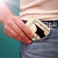 رجل شبيه بجناح الخفاش المال كليب سليم بطاقة الهوية الخفافيش النقدية حامل المال الفولاذ المقاوم للصدأ المال كليب