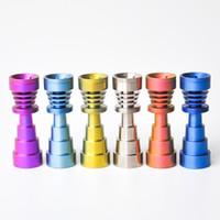 6 em 1 Domeless Prego De Titânio GR2 Nails 10mm 14mm 18mm conjunta Bongo De Vidro tubos de vidro da tubulação de água Universal e Conveniente preço de fábrica