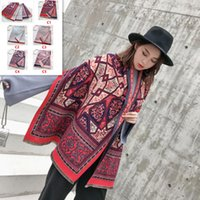 New Imitation Cashmere Totem Thickening Large Shawl Scarf Ca...