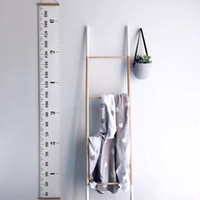 Nordic Style Kid Height Ruler Canvas Hanging Growth Chart Ch...