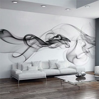 Custom Wall Mural Wallpaper Modern Smoke Clouds Abstract Art...