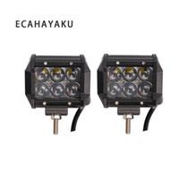 ECAHAYAKU 2 stücke 12 V 24 V 30 Watt Led arbeitslicht Bar 4D Projektorobjektiv 4 zoll Zweireihig 6000 Karat Wasserdicht für Anhänger Traktor ATV SUV