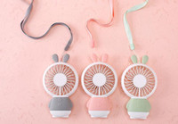 Mini Portable Fan Cartoon rabbit USB Rechargeable Foldable H...