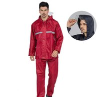 2 قطع جديد أزياء للجنسين تسلق الجبال معطف المطر ماء سميكة الرجل التخييم ماء المطر دعوى