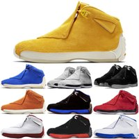 Venta al por mayor 18 Toro Gym Red Suede Royal Men Casual Shoes azul negro blanco rojo 18s mens Casual Shoes us 8-13