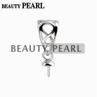 10 Pieces Pendant Bail Pearl Mounting Fine Jewelry DIY Silve...