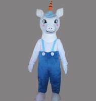 Neue stil erwachsene nette marke cartoon neue professionelle esel einhorn maskottchen kostüm phantasie dress heißer verkauf party kostüm freies schiff