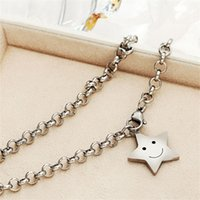 Vintage enkelbandje Stainless Steel Smiley Face Stars Anklet...